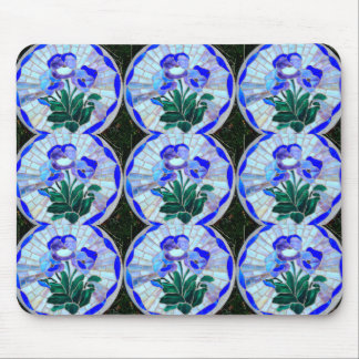 pattern of stained glass flowers mousepad