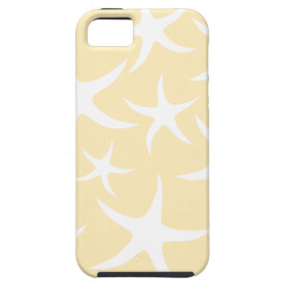 Pattern of Starfish in White and Yellow. Case For The iPhone 5