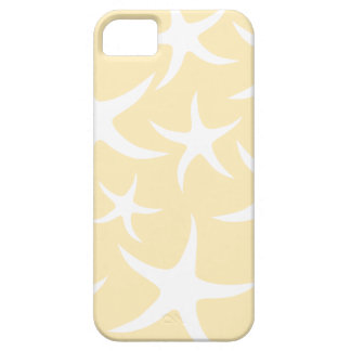 Pattern of Starfish in White and Yellow. iPhone 5 Cover
