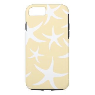 Pattern of Starfish in White and Yellow. iPhone 8/7 Case