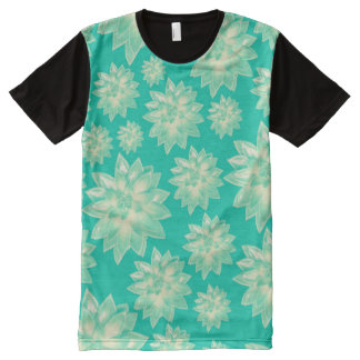 Pattern of succulents All-Over print T-Shirt