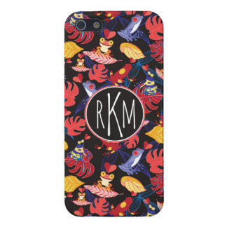 Pattern Of The Lovers Frogs   Monogram Cover For iPhone 5/5S