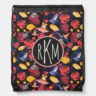 Pattern Of The Lovers Frogs | Monogram Drawstring Bag