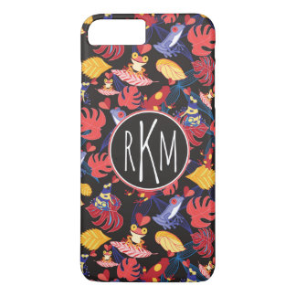 Pattern Of The Lovers Frogs | Monogram iPhone 8 Plus/7 Plus Case