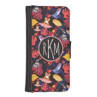 Pattern Of The Lovers Frogs | Monogram iPhone SE/5/5s Wallet Case