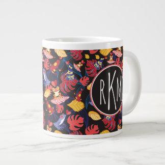 Pattern Of The Lovers Frogs | Monogram Large Coffee Mug
