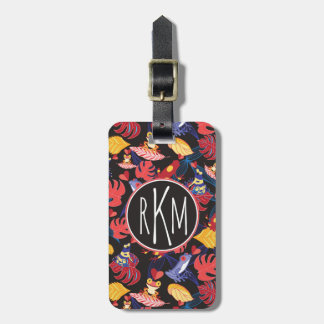 Pattern Of The Lovers Frogs | Monogram Luggage Tag