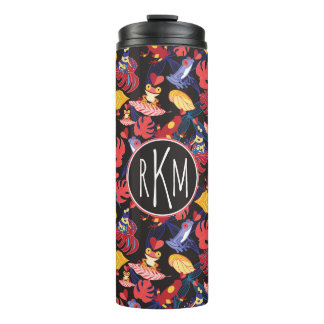 Pattern Of The Lovers Frogs | Monogram Thermal Tumbler
