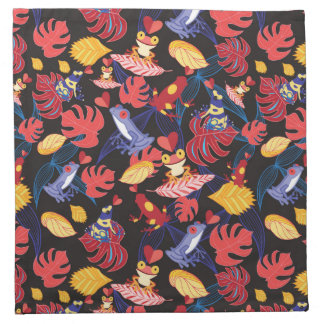 Pattern Of The Lovers Frogs Napkin
