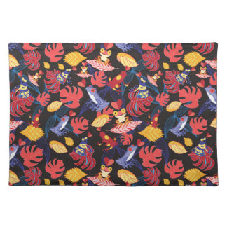 Pattern Of The Lovers Frogs Placemat