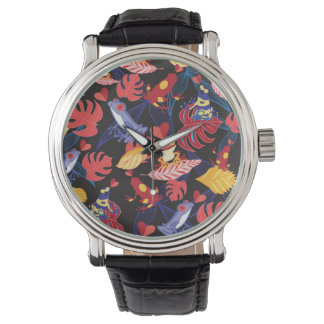 Pattern Of The Lovers Frogs Watch