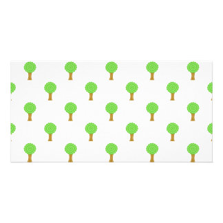 Pattern of Trees. Photo Card Template