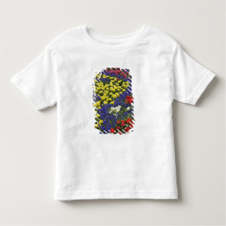 Pattern of tulips and Grape Hyacinth flowers, 2 Tee Shirt