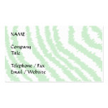 Pattern of Wavy Green Stripes. Business Card Template