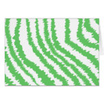 Pattern of Wavy Green Stripes. Cards