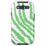 Pattern of Wavy Green Stripes. Samsung Galaxy SIII Cover