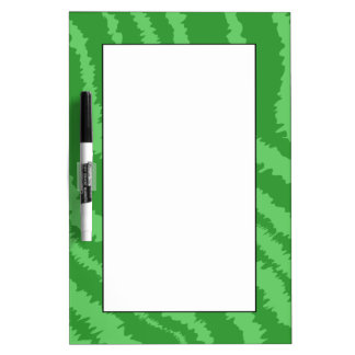 Pattern of Wavy Green Stripes. Dry Erase Board