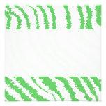 Pattern of Wavy Green Stripes. Invitation