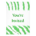 Pattern of Wavy Green Stripes. Invites