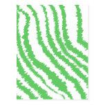 Pattern of Wavy Green Stripes. Postcards