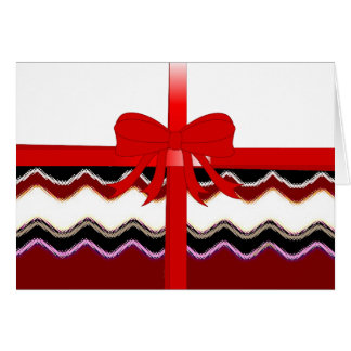 Pattern Office Party Peace Chevrons Monogrammed Card