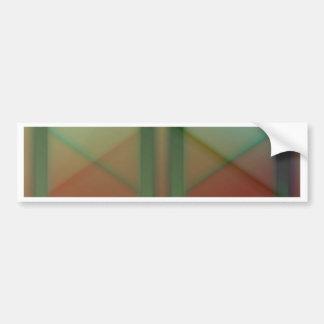 Pattern orange green created by Tutti Bumper Sticker