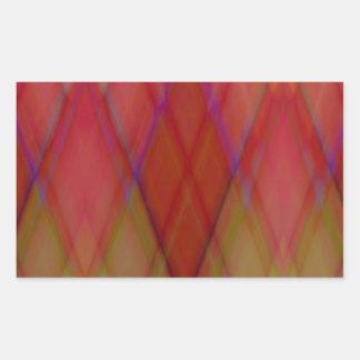 Pattern orange green ZigZag created by Tutti Rectangular Sticker