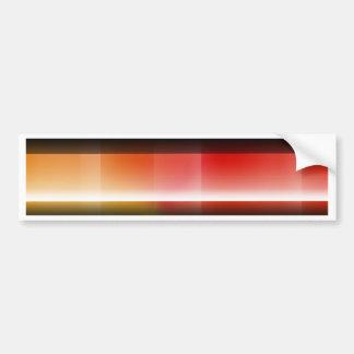 Pattern orange red no. 1 created by Tutti Bumper Sticker