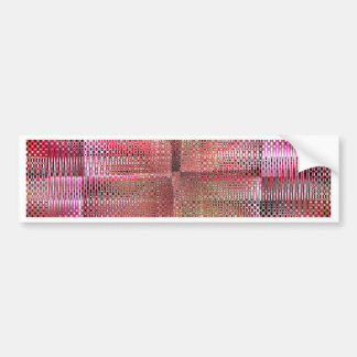 Pattern pink abstract by Tutti Bumper Sticker