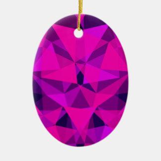 pattern pink ceramic oval decoration