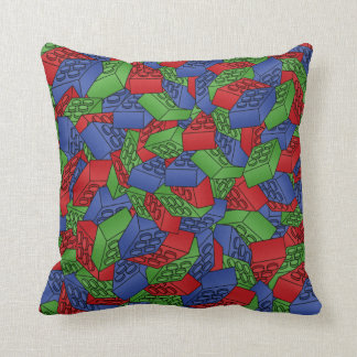 Pattern - Primary Colors Building Blocks Cushion
