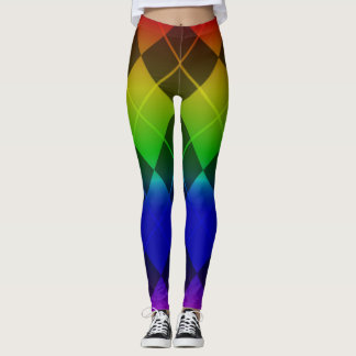 pattern Rainbow Leggings