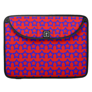 Pattern: Red Background with Blue Stars Sleeve For MacBook Pro