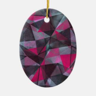 pattern red black christmas ornament