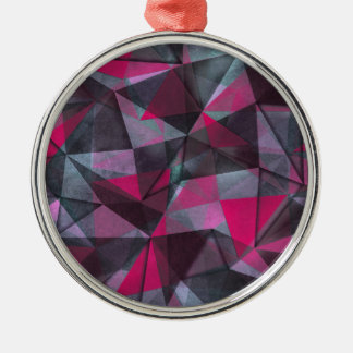 pattern red black Silver-Colored round decoration