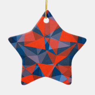 pattern red blue christmas ornament