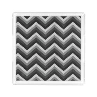 Pattern Retro Zig Zag Chevron Acrylic Tray