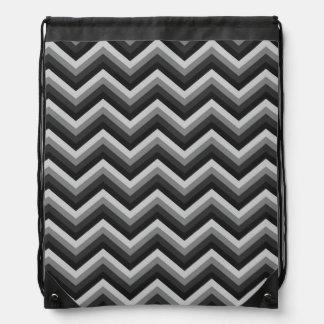 Pattern Retro Zig Zag Chevron Drawstring Bag