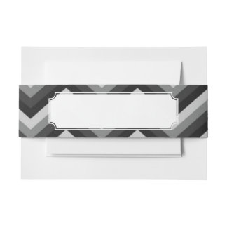 Pattern Retro Zig Zag Chevron Invitation Belly Band