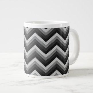 Pattern Retro Zig Zag Chevron Large Coffee Mug