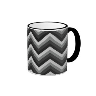 Pattern Retro Zig Zag Chevron Ringer Mug