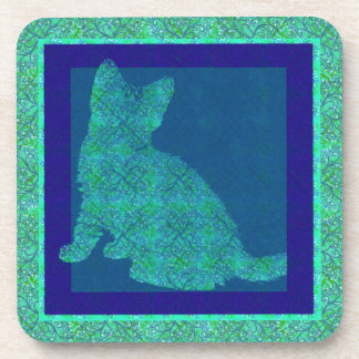 Pattern Stamp Cat Cork Coaster