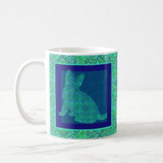 Pattern Stamp Cat Mug