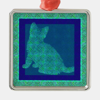 Pattern Stamp Cat Ornament