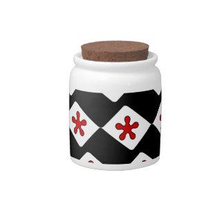 pattern candy jars