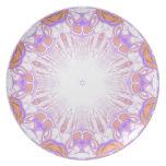 Pattern. White, Orange and Purple.