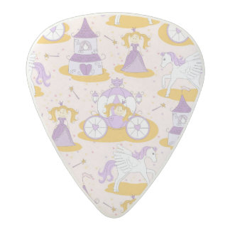 pattern with a princess acetal guitar pick