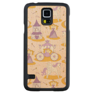 pattern with a princess carved maple galaxy s5 case