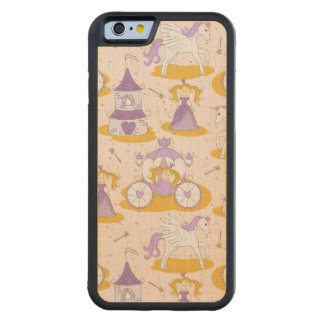 pattern with a princess carved maple iPhone 6 bumper case