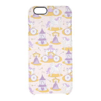 pattern with a princess clear iPhone 6/6S case